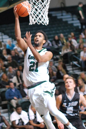 Jarred Jones scored 14 points with 10 rebounds for his fifth double-double of the season.