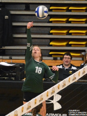 Loyola had 55 kills but gave away 70 points from errors against Lafayette.