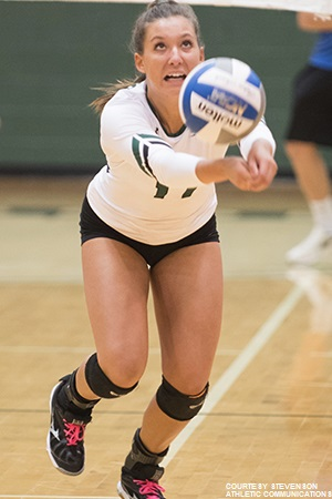 Sara Billinger had 40 assists to a well-rounded attack between matches against Stockton and Rowan.