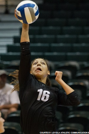 Ann Ernst completed her freshman season with nearly twice as many kills as her closest teammate, totaling 326.